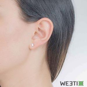 Boucles d'oreilles Swarovski - Attract Round