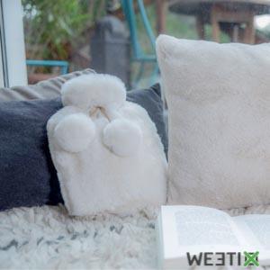 Bouillotte en velours ultra douce pour l'hiver