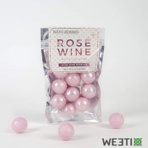 Boule de bain parfumé au vin rosé - Lot de 10