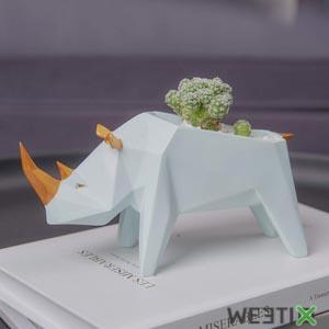 Cache pot Rhinocéros - Amoy-Art