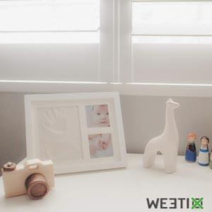 Cadre empreinte et photos de bébé