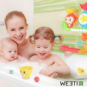 Cascade interactive pour le bain de bébé