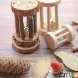 Coffret jouets en bois à mâcher pour rongeur