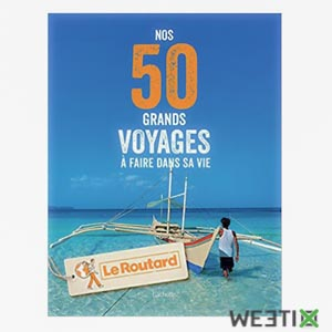Livre sur les 50 voyages à faire dans sa vie