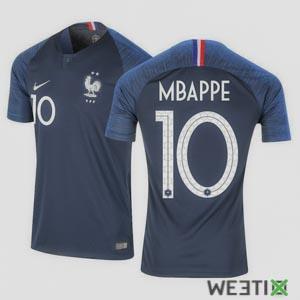 Maillot Mbappé équipe de France - officiel