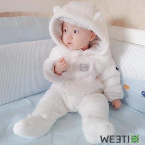 Combinaison à capuche pour l'hiver 100% coton