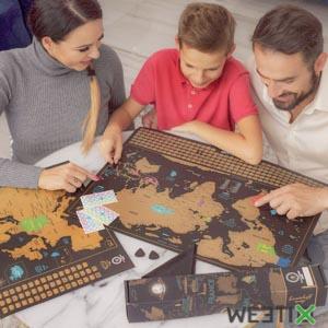 Carte du monde à gratter - Poster XXL