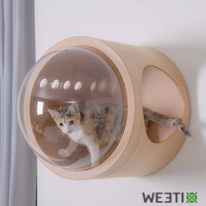 Perchoir soucoupe Spacechip- Abri à chat design