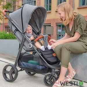 Poussette ultra confortable pour bébé