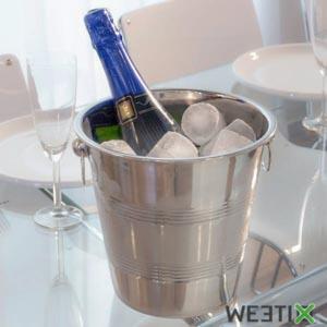 Seau à champagne en acier inoxydable