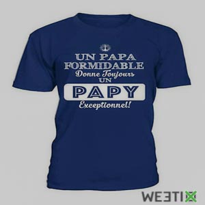 T-Shirt pour papy exceptionnel