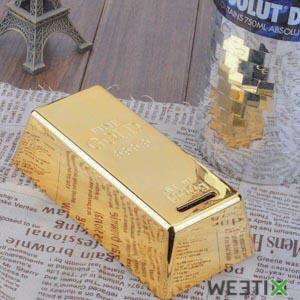 Tirelire lingot d'or avec serrure - en céramique