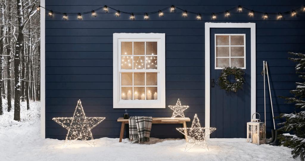 jardin décoré pour Noël