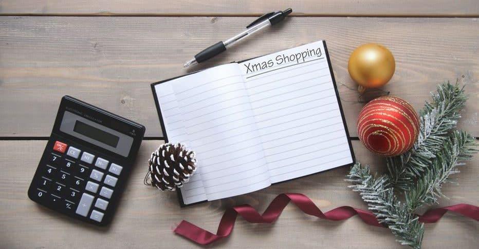 bloc note pour liste des cadeaux de noel